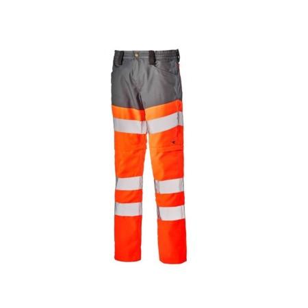 Pantalone Pant Hv 3 1 Altavisibilit Diadora Utility Arancione Hv Grigio Acciaio