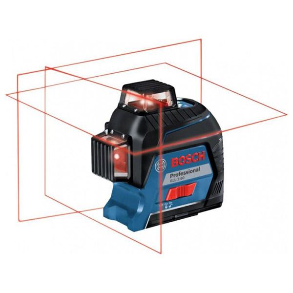 Livella A Laser Rosso 3 Linee Gll 3 80 Professional Con Rotazione 360 E Valigetta Bosch